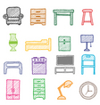 Hand drawing furniture icons