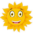 happy sun cartoon character vector image