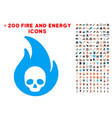 hellfire icon with bonus power set vector image