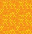 hexagon honey bee nature seamless pattern vector image vector image