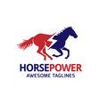 horse power logo vector image