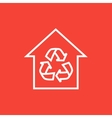 House with recycling symbol line icon vector image vector image