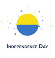 independence day of ukraine patriotic banner vector image vector image