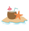 isolated coconut cocktail design vector image