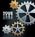 machine gears background vector image vector image