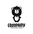 modern smart teddy bear logo vector image vector image