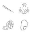 national dirk dagger thistle national symbol vector image vector image