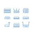network router icons vector image vector image