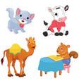 of cartoon animals vector image vector image