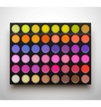 Palette eye shadows vector image