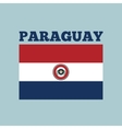 paraguay country flag vector image vector image