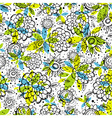 pattern of hand draw flowers vector image vector image
