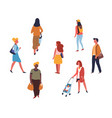 people walking or on shopping adults teen and vector image vector image