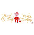 piglet santa claus in a holiday outfit vector image vector image