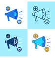 promotion icon set in flat and line style vector image vector image