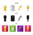 pub and bar logo set of vector image vector image
