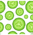 realistic 3d cucumber seamless pattern background vector image vector image