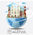 Republic Of Latvia Landmark Global Travel And vector image vector image