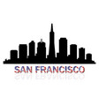 san francisco skyline vector image