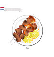 sate or dutch style barbecue served with peanut sa vector image vector image