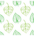 seamless pattern of tropical leaves on light vector image