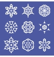 Set of Different Ornamental Rosettes vector image