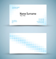 Set of modern business card template vector image vector image