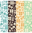Set of seamless pattern with chocolate sweets vector image vector image