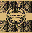 set vintage flourishes vine seamless pattern vector image vector image
