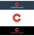 simple red letter c logo vector image