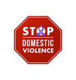 stop domestic violence stamp concept social vector image