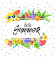summer time poster vector image vector image