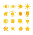Sun icons set white vector image vector image