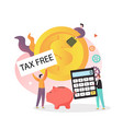 tax free shopping concept for web banner vector image