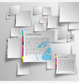 template set vector image vector image