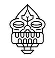 tiki idol icon outline style vector image