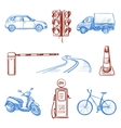 Traffic Laws icons set vector image vector image
