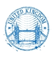 United Kingdom logo design template Shabby vector image vector image