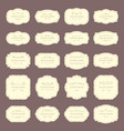vintage frame labels rectangle and oval wedding vector image