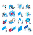 virtual reality device isometric immersion vector image vector image