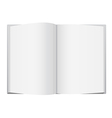 White Open Book vector image