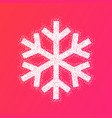 winter new year design snowflake vector image