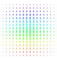 x generation boy icon halftone spectrum effect vector image vector image