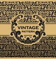 vintage flourishes vine seamless pattern vector image