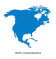 detailed map of north and central america vector image