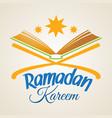 ramadan kareem islamic koran vector image
