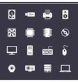 Computer Hardware Icons vector image