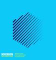 abstract geometric shape vector image