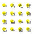 16 meal icons vector image vector image