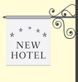 5 star hotel signboard vector image vector image